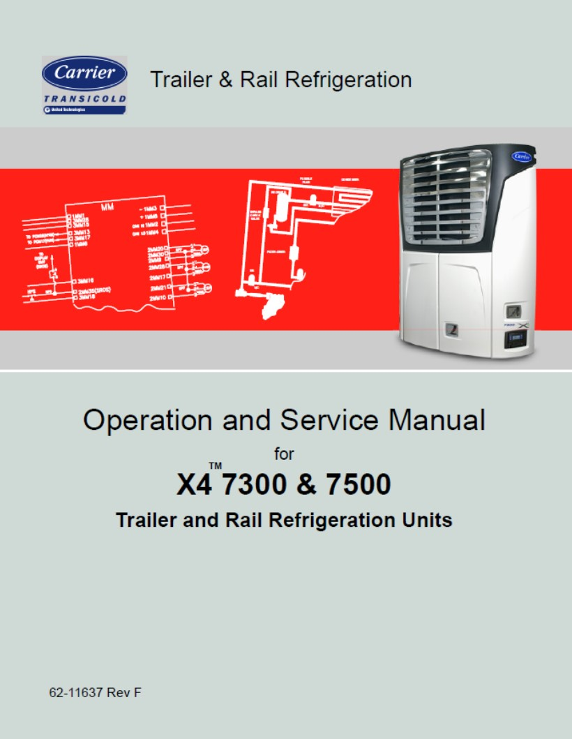 carrier transicold x4 service manual